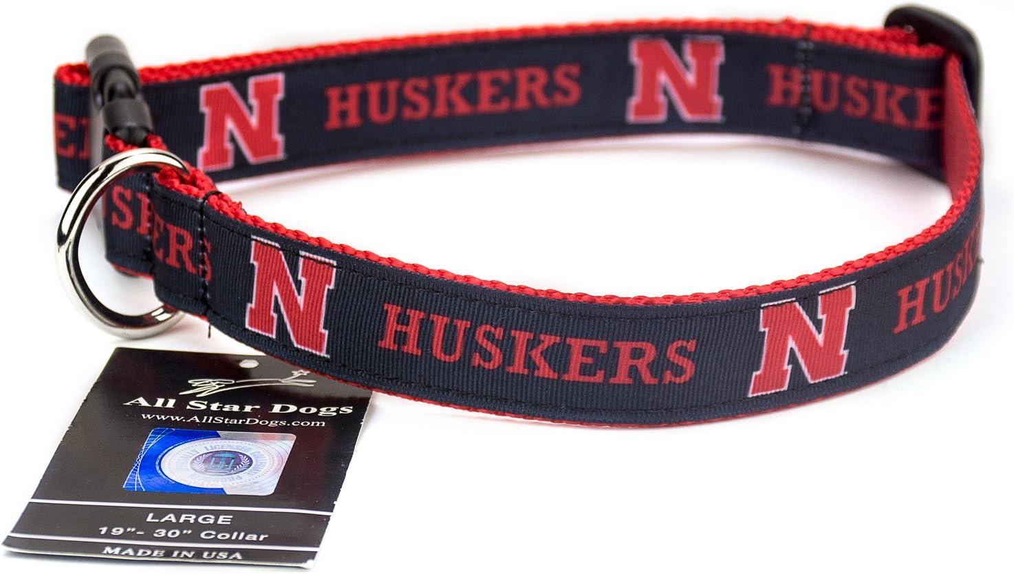 NCAA Nebraska Cornhuskers Dog Collar Team Color, Large