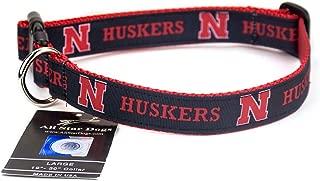 product image for All Star Dogs Nebraska Cornhuskers Ribbon Dog Collar