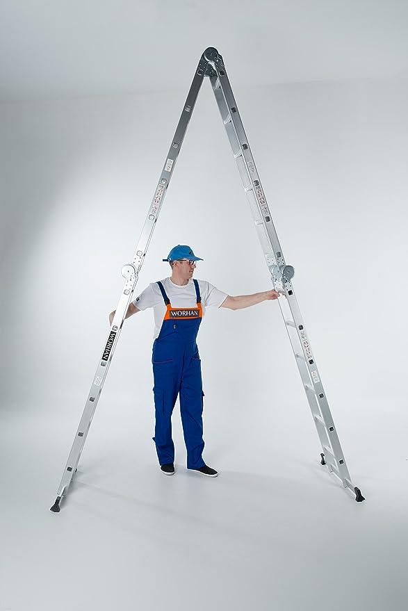 WORHAN® 6.7m Escalera Multiuso Multifuncional Plegable 670cm ...