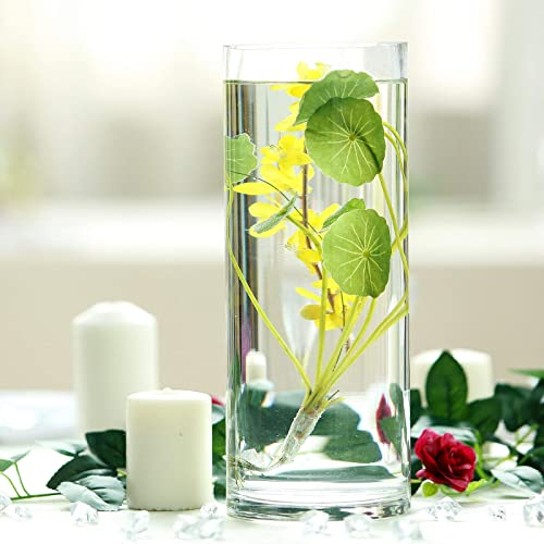 Efavormart 12 Cylinder Glass Centerpiece Flower Vase for Wedding Party Banquet Events Centerpiece Decoration – 6 Set