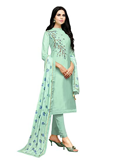 129250683c AKHILAM Women's Embroidered Muslin Silk Semi-Stitched Salwar Suit Salwar  Suit Material with Nazneen Dupatta (Turquoise_3DIAN053): Amazon.in:  Clothing & ...