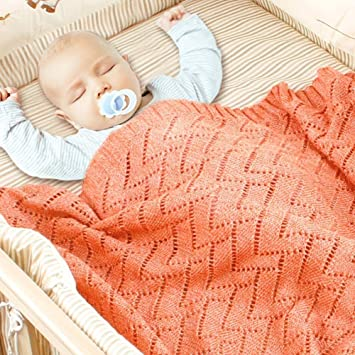Nursery /& pram Extra Soft 100/% Cotton Blankets for Moses Basket Pink and Blue. Baby Cellular Blanket Lightweight and Breathable 70 x 90 cm in Plain White Super Cosy Grey Travel cot