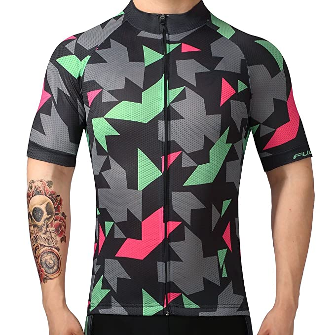 7f07b1b1b Image Unavailable. Image not available for. Color  FUALRNY Men s Cycling  Jersey Full Zip Short Sleeve ...