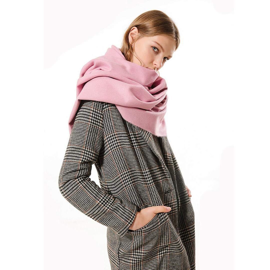 Boomdan Womens Large Soft Imitation cashmere Feel Shawls Wraps Light Scarf Multifunctional warm shawl (Pink) by Boomdan (Image #2)