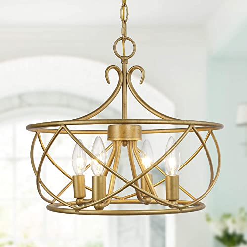 KSANA Antique Gold Chandelier