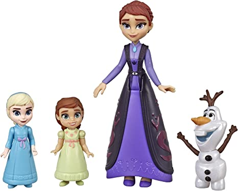 Hasbro Disney Frozen 2: Elsa & Anna with Queen Iduna & Olaf Small ...