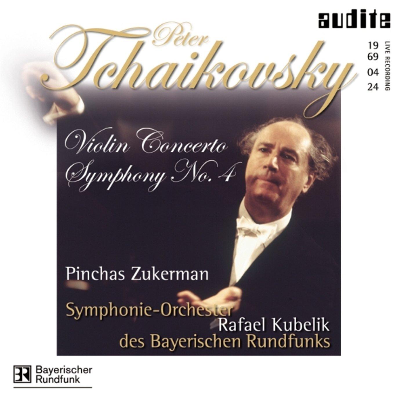 Symphony 4 F minor / Violin Concerto D Major by Audite