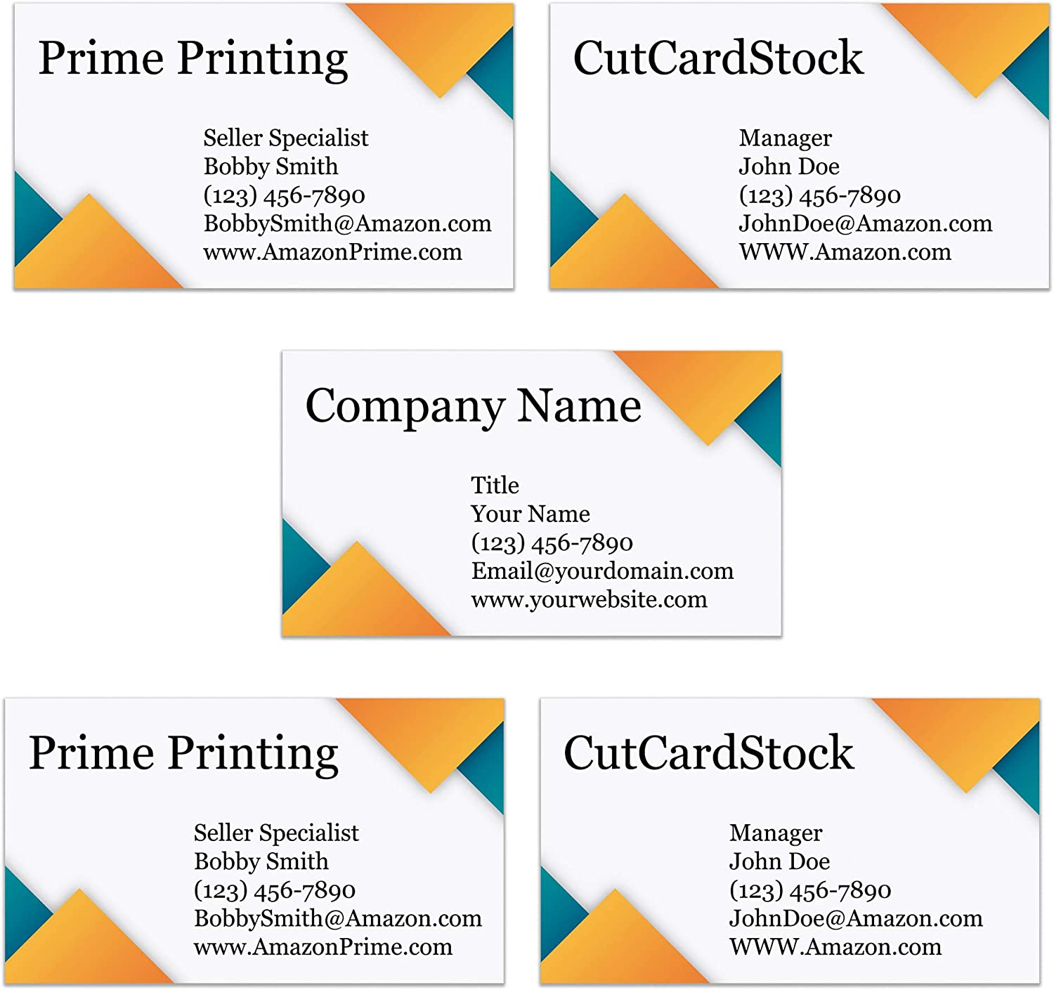 Ocean Blue, 100 Thick Sturdy Stock 300GSM Custom Printed Business Cards 3.5 x 2-100/% Made in the U.S.A.