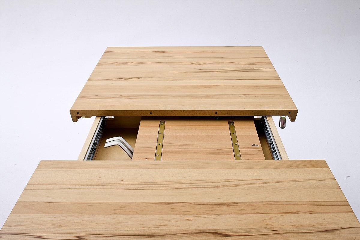 Esstisch ausziehbar eiche massiv  Robas Lund Tisch Säulentisch Bergamo ausziehbar Kernbuche masiv ...