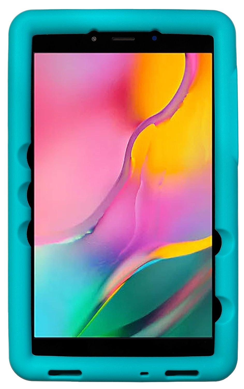 BobjGear Bobj Rugged Tablet Case for Samsung Galaxy Tab A 8.0 (2019) SM-T290, SM-T295 Kid Friendly (Terrific Turquoise)