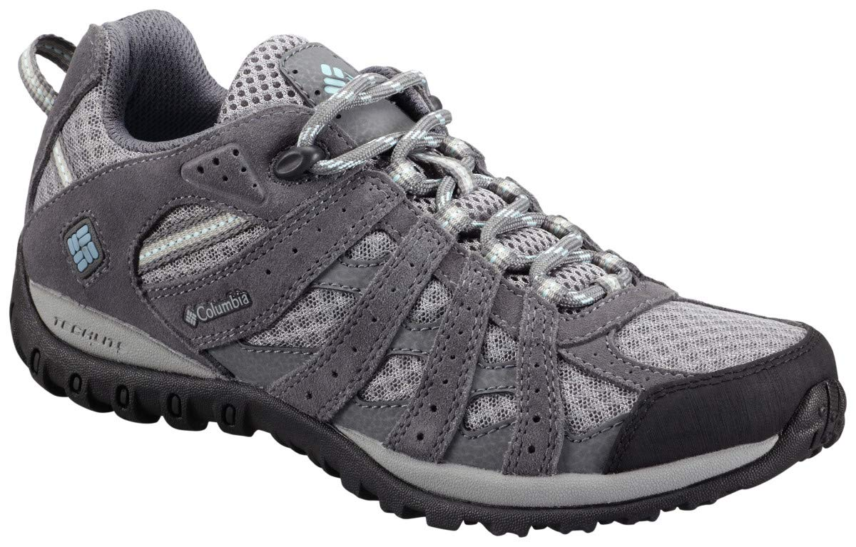 Columbia Women's Redmond Trail Shoe, Boulder/Sky Blue, 7 M US by Columbia
