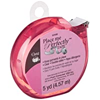 Dritz 53109 Place Me Perfectly Tape, 5-Yards, Clear