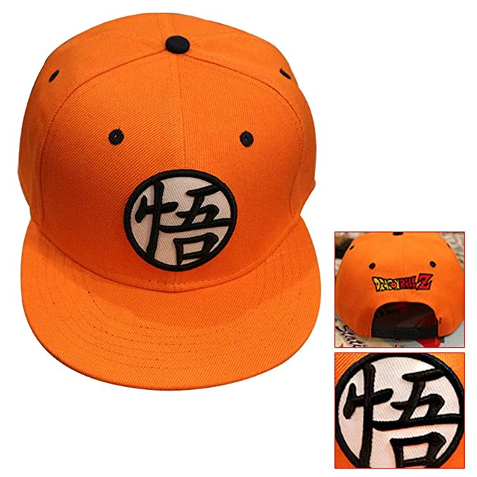 Amazon Dragonball Z Goku Symbol Orange Baseball Cap Hat Clothing
