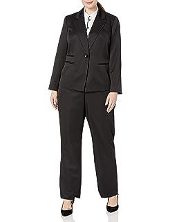 Amazon.com: Le Suit - Traje de mujer con cuello de 3 botones ...