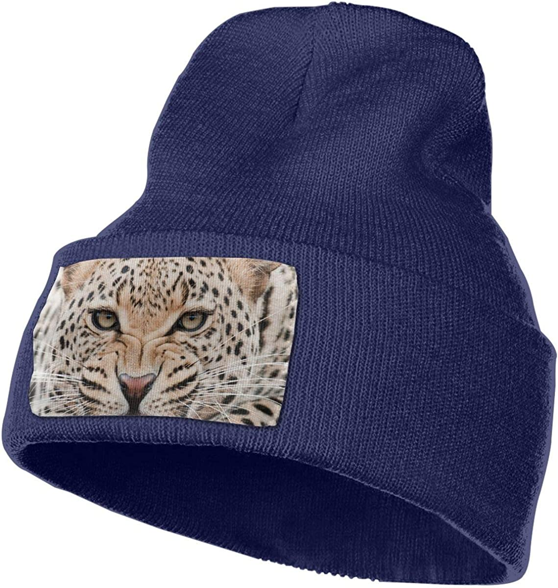 Angry Leopard Print Men/&Women Warm Winter Knit Plain Beanie Hat Skull Cap Acrylic Knit Cuff Hat