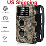 """Crenova Game and Trail Camera 12MP 1080P HD With Time Lapse 65ft 120° Wide Angle Infrared Night Vision 42pcs IR LEDs 2.4"""" LCD Screen Scouting Camera Deer Camera"""