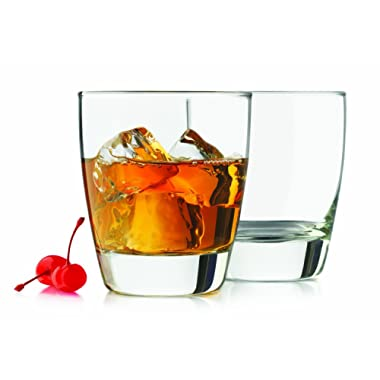 Libbey Glassware 4-piece 12.25-ounce Classic Heavy Base Old Fashioned Glasses, Clear