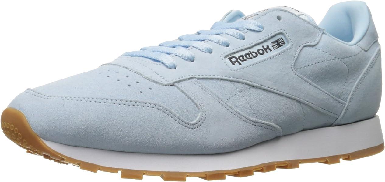 4bc6a62f4 Reebok Men s LTHR Pastels Fashion Sneaker Fresh Blue Classic White Coal-Gum  9