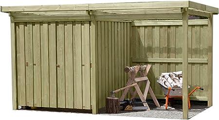 Gartenpirat Geratehaus Holz Mit Flachdach Typ 2 Gartenhaus Mit
