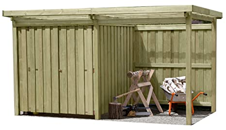 Gartenpirat Cobertizo de jardín, madera con tejado plano tipo 2, con cabañ