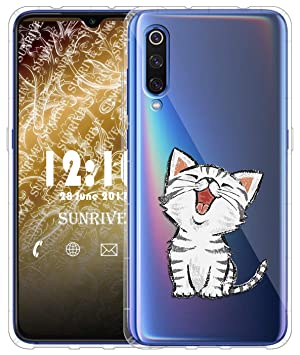 Sunrive Funda para Xiaomi Mi 9, Silicona Slim Fit Gel Transparente Carcasa Case Bumper de Impactos y Anti-Arañazos Cojín de Aire Espalda Cover(TPU ...