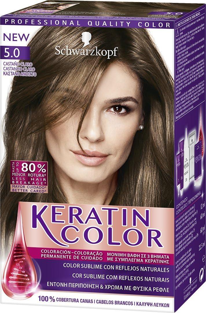 Keratin Color 1930667 Coloración Permanente Para el Cabello Tono 5 ...