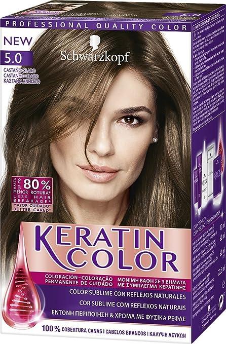 Keratin Color 1930667 Coloración Permanente Para el Cabello Tono 5-150 ml
