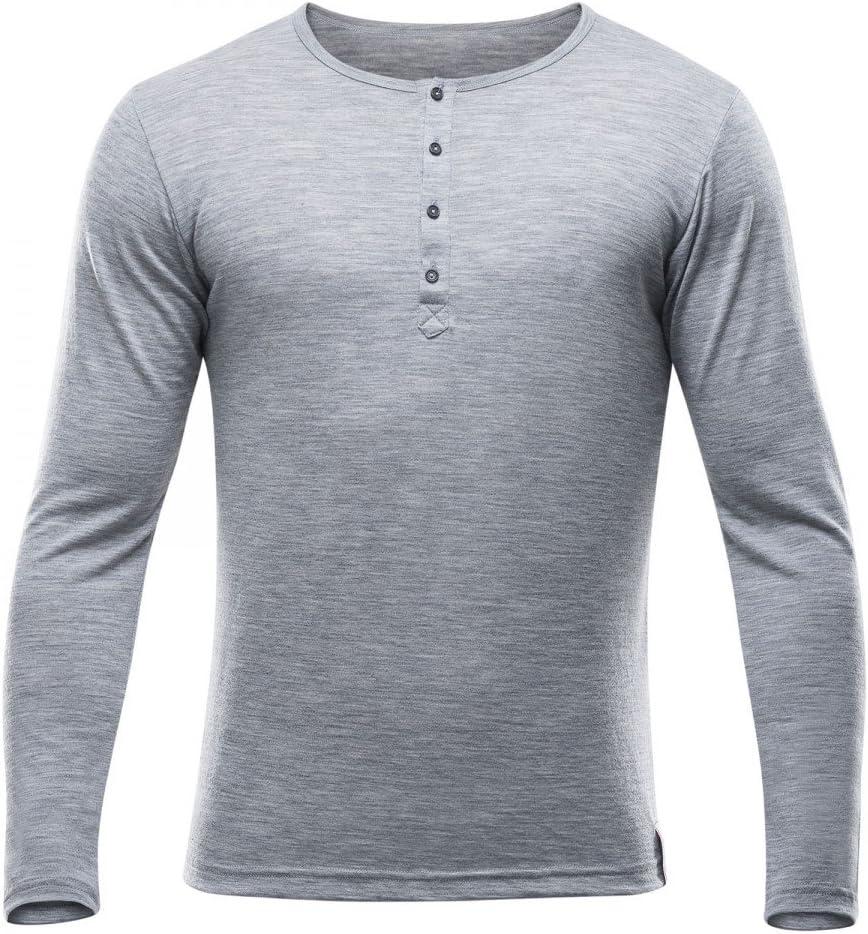 Devold 150 Hessa Button Shirt Men Longsleeve aus Merinowolle