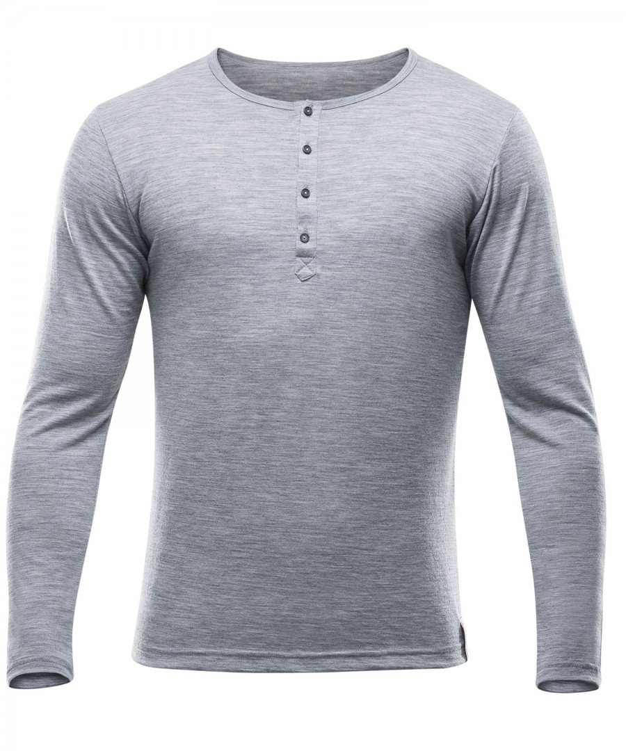 Devold 150 Hessa Button Shirt Men - Longsleeve aus Merinowolle