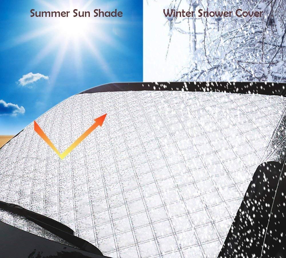 Amazon.es: Lamantt Funda Protectora Coche para Parabrisas 147 cm X 100 cm - Hielo, Sol, Frost y a Prueba de viento en todo tipo de clima protector contra ...