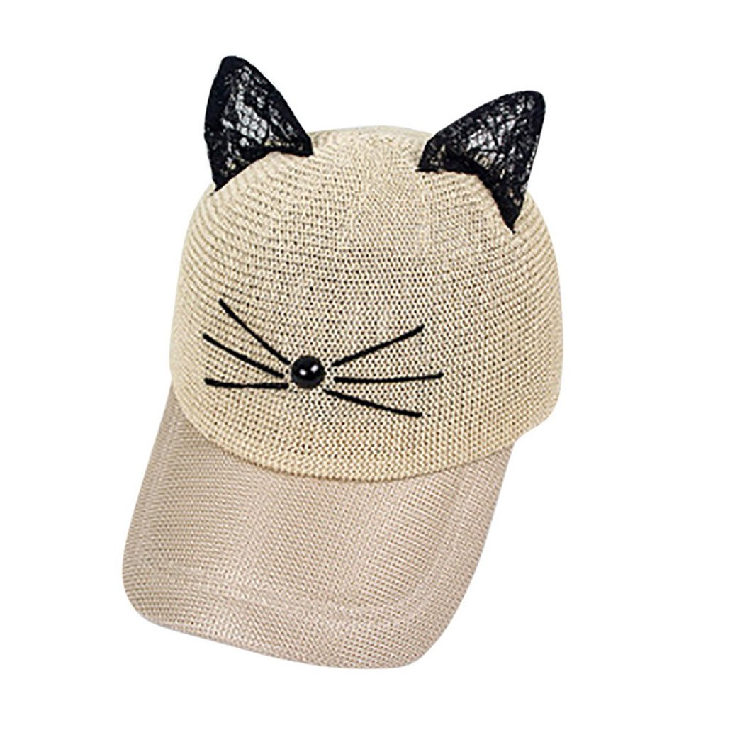 Baseball Cap Lovely Cartoon Adjustable Cat Ears Cap Lovely Mesh Baseball Sun Hats Gorras Hombre at Amazon Mens Clothing store: