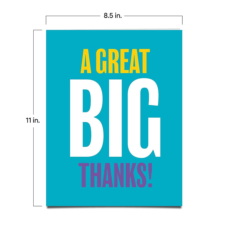 Amazon.com: Jot & Mark Jumbo Tarjeta de agradecimiento de ...