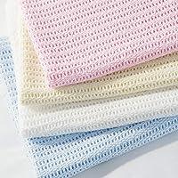 Family Bedding Cellular Blanket, Cotton, Cream, 230x230cm
