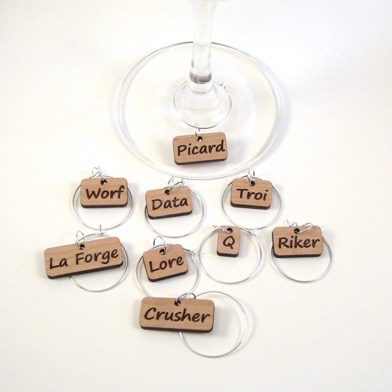 Wine Glass Charms - Star Trek TNG