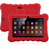 "7"" Kids Tablet PC, Ainol Q88 Android 4.4 External 3G 8GB ROM 512MB RAM Tablet with Dual Camera WIFI USB Phablet (Red)"
