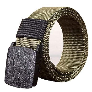 ... Neutral Deportes Al Libre Aire Cintura Lona Regalos Color Sólido  Plástico Hebilla Automática Cinturón De Ocio (110~140 Cm)  Amazon.es  Ropa  y accesorios 579af9126cc8