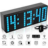 ECVISION Large Big Number Jumbo LED snooze wall desk Alarm clock count down timer with calendar