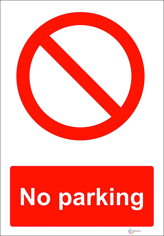 Self Adhesive Sticker No Parking Portrait