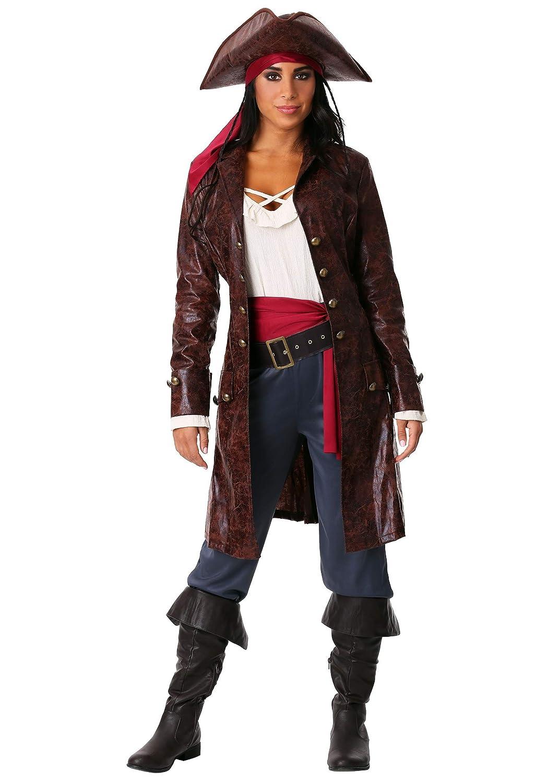Women's Pretty Pirate Captain Fancy Dress Costume X-Large