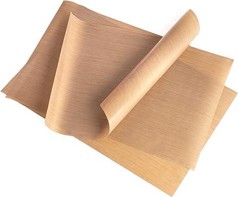 recortable papel de horno folio de horno reutilizable papel de horno permanente capa antiadhesivo Lamina Antiadherente 5 piezas 40 x 33 cm se puede lavar en lavavajillas permanente