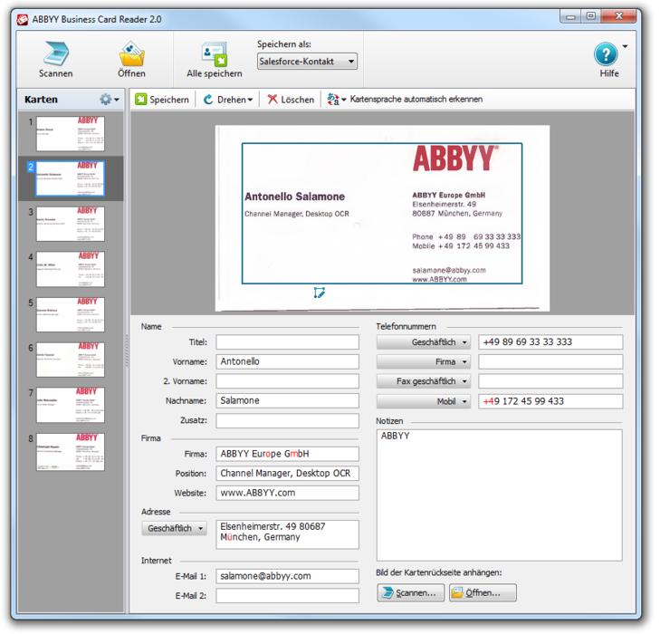 Abbyy business card reader 20 download amazon software colourmoves