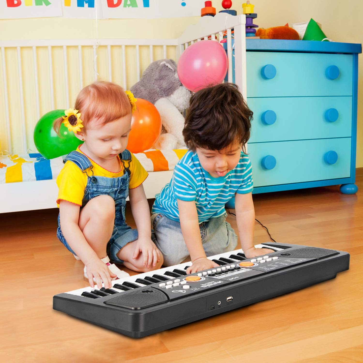 aPerfectLife 49 Keys Piano Keyboard for Kids Multifunction Portable Piano Electronic Keyboard Music Instrument for Kids Early Learning Educational Toy (Black) by aPerfectLife (Image #6)