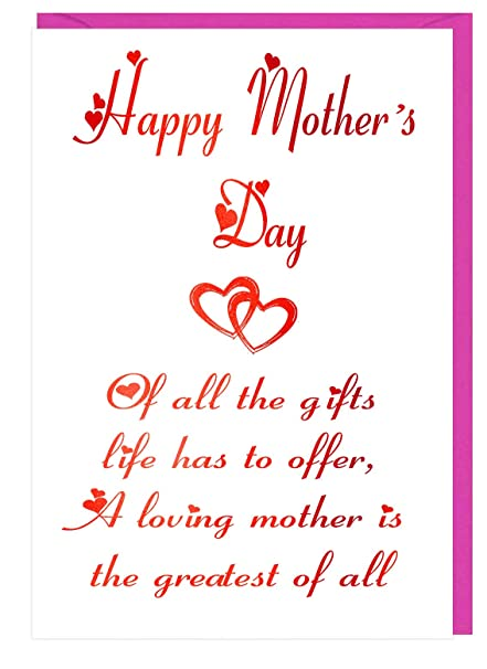 LAMINADO tarjeta de el día de la madre con amor diciendo ...