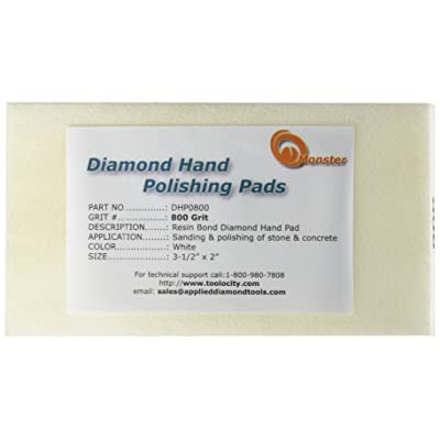 Monster DHP0800 Monster Diamond Hand Polishing Pads for Stone: Home Improvement