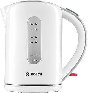 Bosch TWK7601 1.7L 2200W Blanco - Tetera eléctrica (1,7 L, Blanco, De plástico, palanca, 2200 W, 1 kg): Amazon.es: Hogar