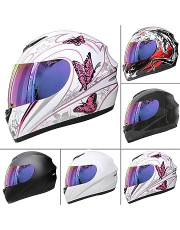 0ac357bd7ab Leopard LEO-819 Full Face Motorbike Motorcycle Helmet Road Legal + Free  Extra Visor