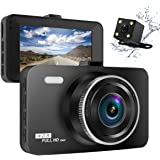 """ULU Dash Cam 1080p FHD 170°Wide Angle Front and Rear Dual Lens Sony Exmor Sensor 32GB SD Card 3.0"""" LCD Car Dashboard Camera DVR Digital Driving Video Recorder Night Vision,WDR ,G- Sensor,Loop Recording,Parking Monitoring"""