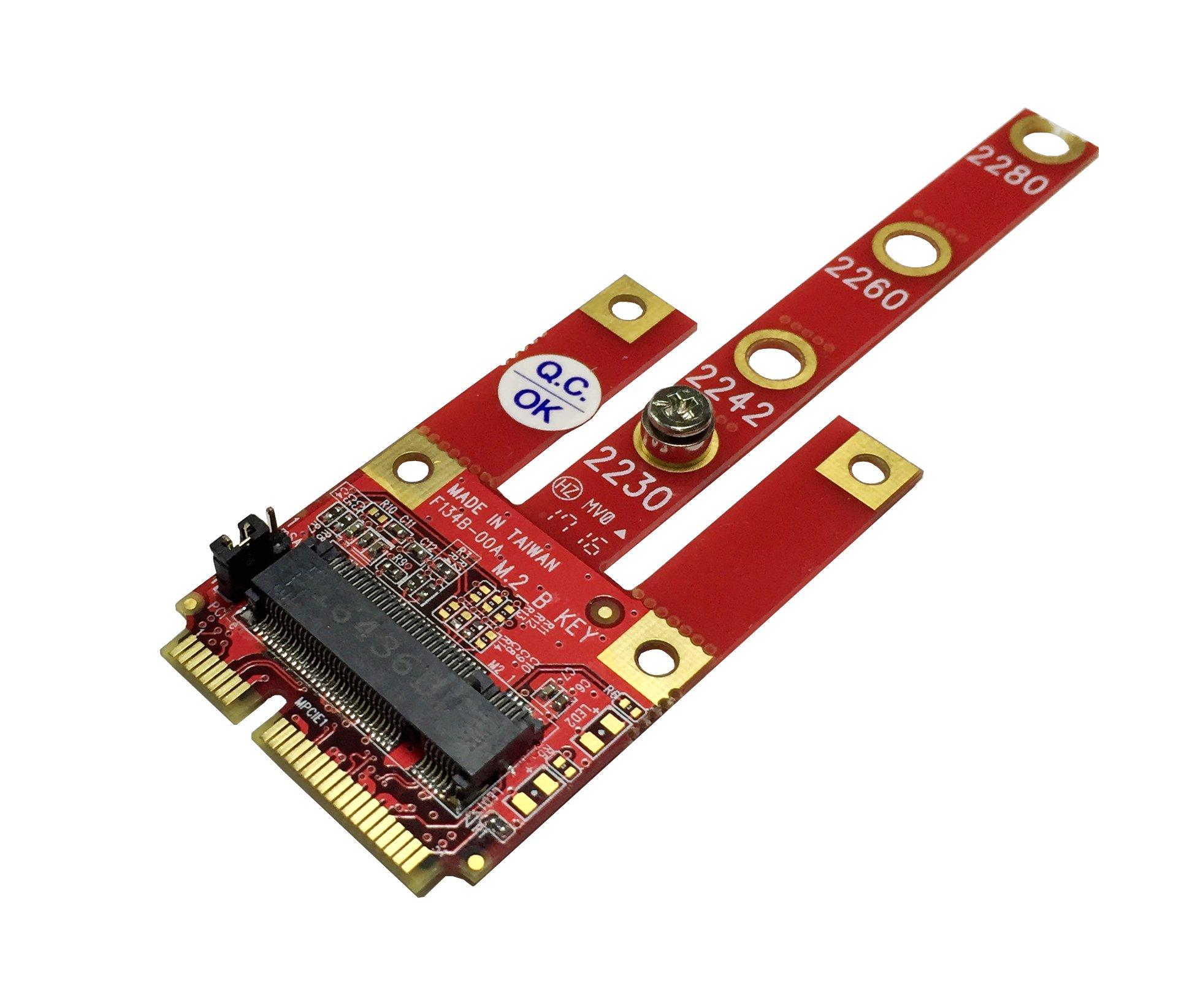 Mini PCIe Ableconn MPEX-134B Adapter with M.2 Key B Slot - S