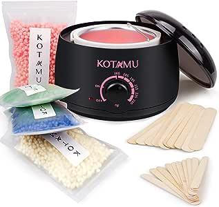 Waxing Kit,KOTAMU Wax Warmer Hair Removal Home Wax Kitwith 14.1oz Hard Wax Beans for Full Body,Legs,Face,Eyebrows,Bikini,Brazilian for women men