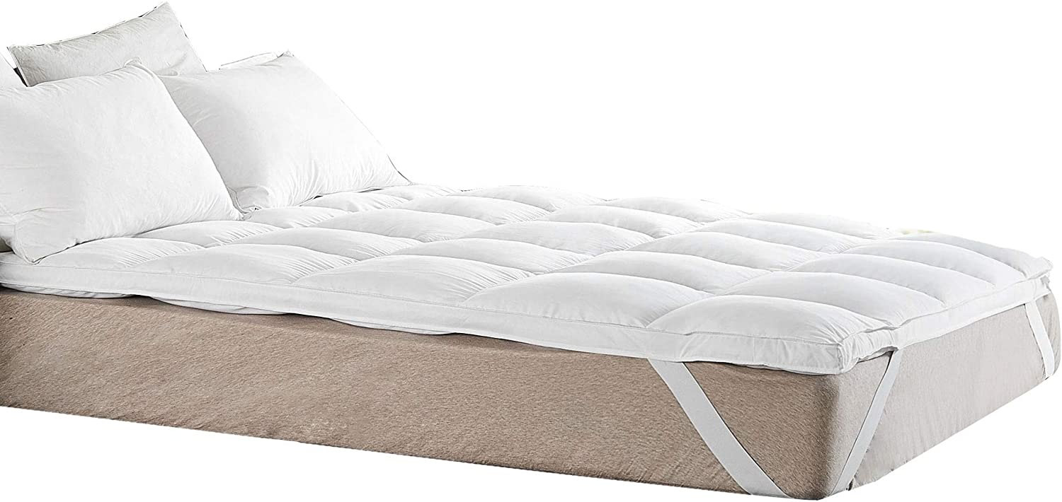 Cheer Collection Extra Plush Luxurious Down Alternative Mattress Topper, Full